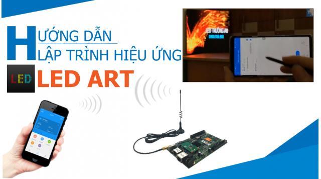 Lập trình biển led trên điện thoại card D,C,A của HD - LED ART