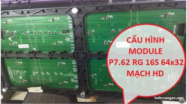 Cách cấu hình Module P7.62 - 3 màu với mạch HD trên HD 2018