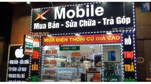 Biển led ma trận 1 mặt, 2 mặt cho cửa hàng điện thoại